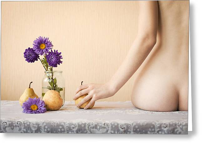 Pears Greeting Card by Evgeniy Kolotuschenko