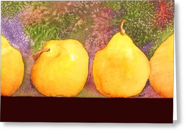 Pears Greeting Card by Gwen Nichols