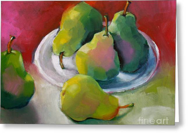 Pears Greeting Card by Michelle Abrams
