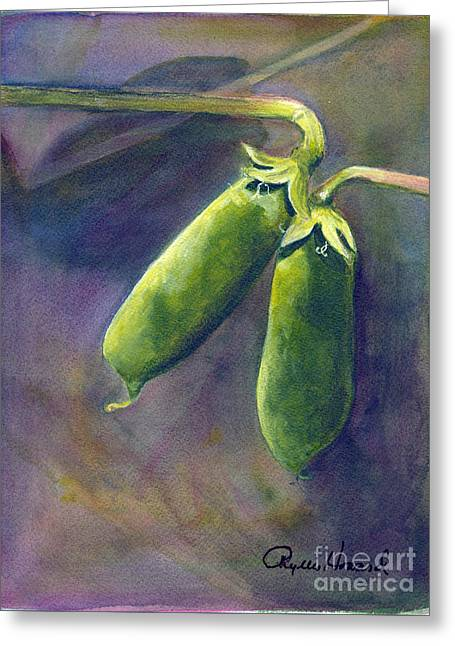 Peas On The Vine Greeting Card