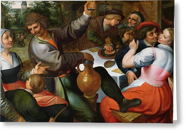 Peasant Feast, 1566 Greeting Card