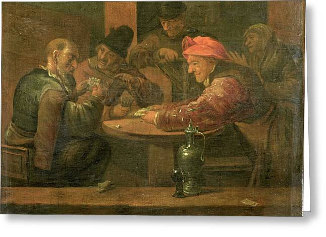 Peasants Playing Cards, Daniel Boone Greeting Card