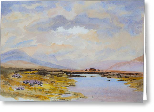 Peat Bogs Of Connemara Greeting Card by Rob Hemphill