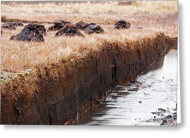 Peat Cutting At Broadford Greeting Card