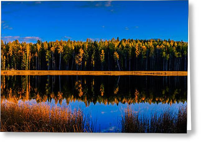 Greeting Card featuring the photograph Peavine Pond Panorama by Rob Tullis