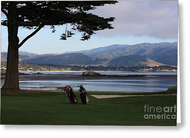 Golf Photos Greeting Cards - Pebble Beach Greeting Card by Andrew Romer
