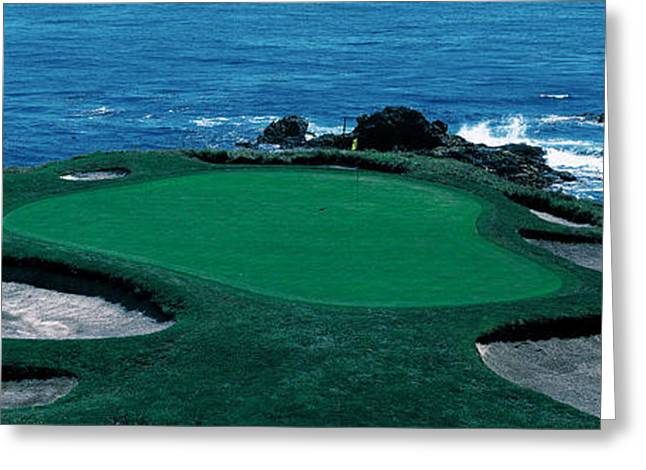 Pebble Beach Golf Course 8th Green Greeting Card