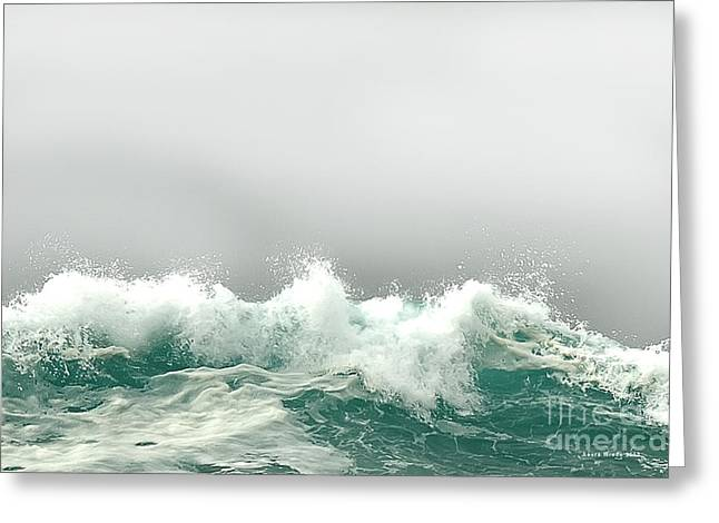 Pebble Beach In The Fog Greeting Card by Artist and Photographer Laura Wrede