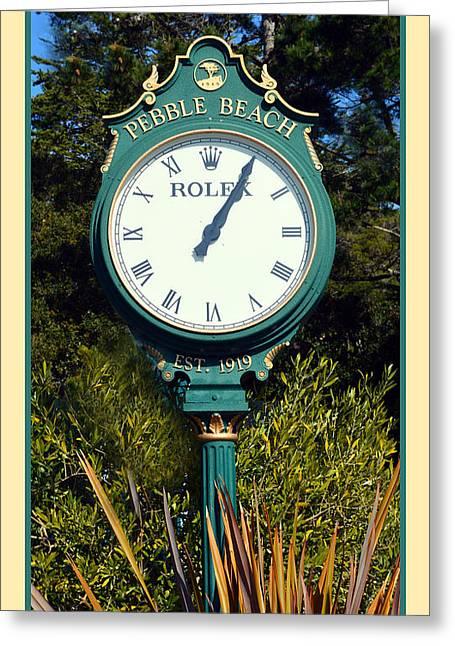 Pebble Beach Rolex Greeting Card