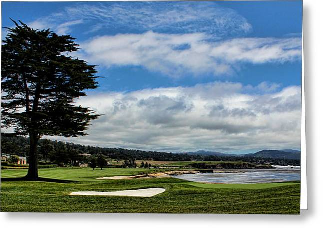 Pebble Beach - The 18th Hole Greeting Card