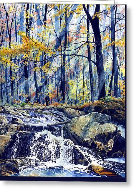 Pebble Creek Autumn Greeting Card by Hanne Lore Koehler