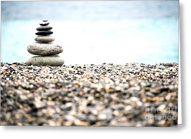 Pebble Stone On Beach Greeting Card