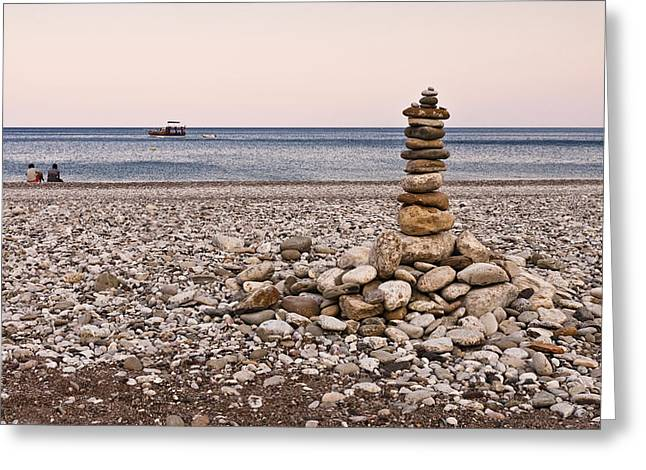 Pebble Tower Greeting Card