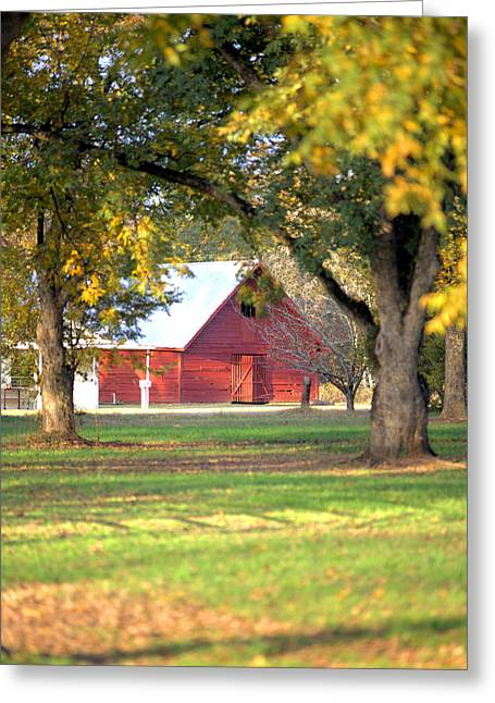Greeting Card featuring the photograph Pecan Orchard Barn by Gordon Elwell
