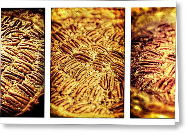 Pecan Pie Nostalgia Triptych By Lincoln Rogers Greeting Card