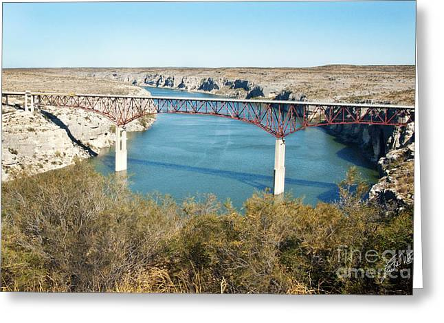 Greeting Card featuring the photograph Pecos Bridge by Erika Weber