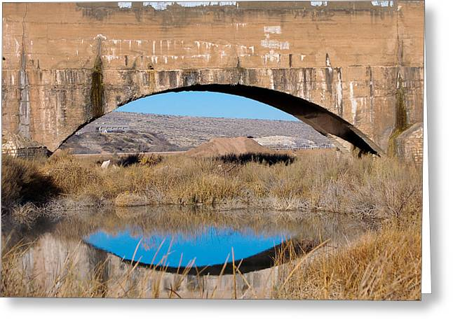Pecos River Flume Greeting Card