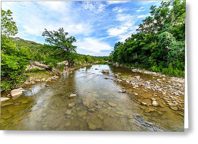 Pedernales River Greeting Card by David Morefield
