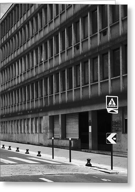 Pedestrian Crossing Greeting Card by Arkady Kunysz