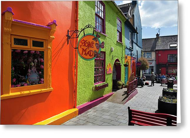 Pedestrianised Street Off Market Greeting Card by Panoramic Images