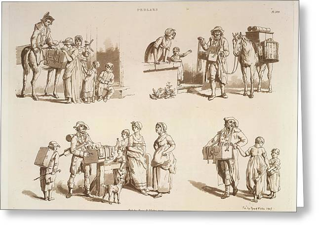 Pedlars Greeting Card by British Library