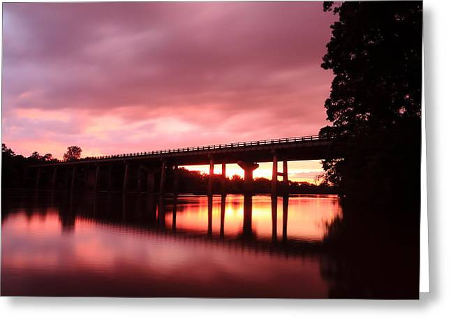 Pee Dee Sunset Greeting Card