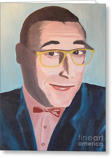 Pee Wee Herman Greeting Card by Robert Yaeger