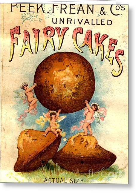 Peek, Frean And Co 1890s Uk Fairy Cakes Greeting Card by The Advertising Archives