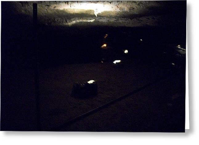 Peeking Light Greeting Card by Erica  Darknell