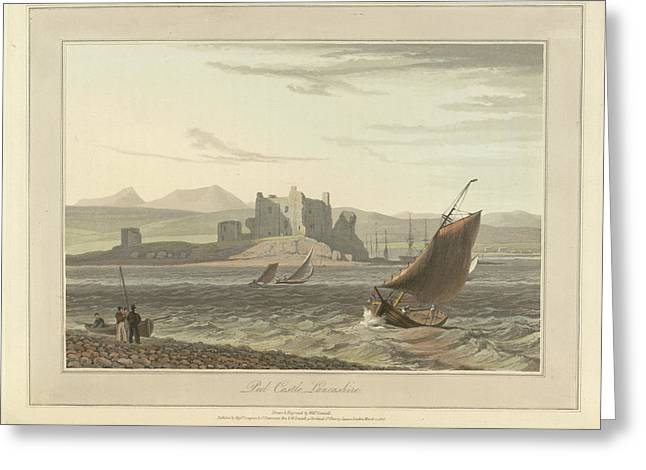 Peel Castle In Lancashire Greeting Card by British Library