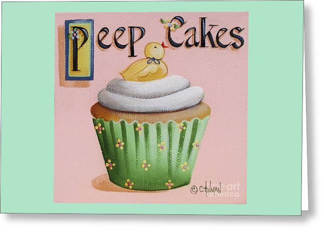 Peep Cakes Greeting Card by Catherine Holman
