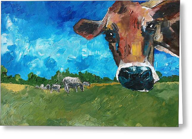 Peeping Bessie Greeting Card