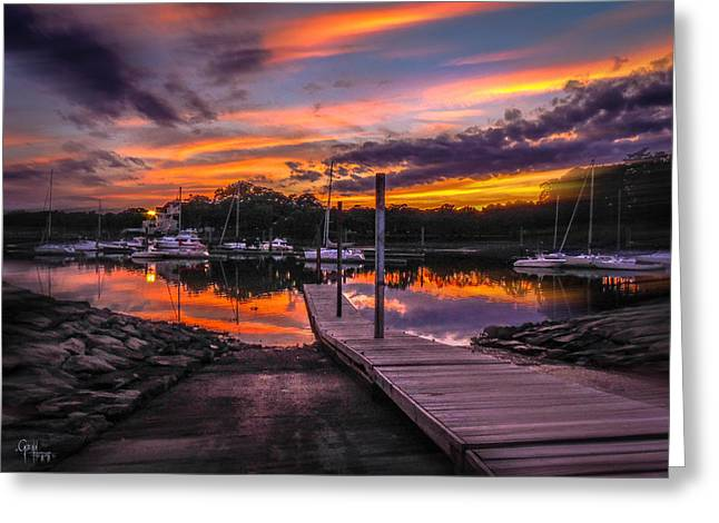 Peering At The Sunset Greeting Card by Glenn Feron
