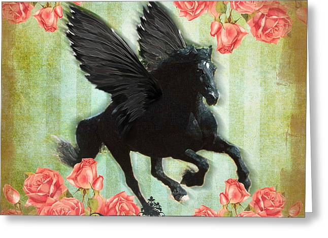 Pegasus Greeting Card by Graphicsite Luzern