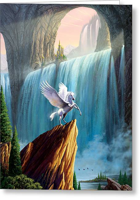 Pegasus Kingdom Greeting Card