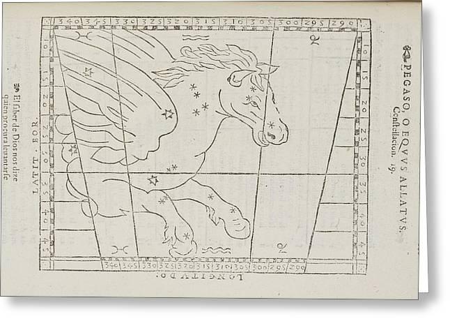 Pegasus Star Constellation Greeting Card