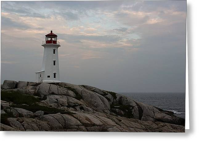 Peggy Point Lighthouse Greeting Card by Tammy and Dale Anderson