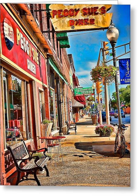 Peggy Sue's Diner Chesterton Indiana Greeting Card