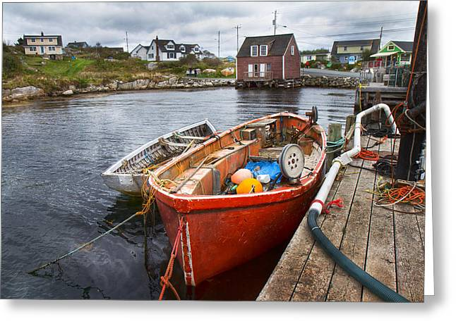 Peggy's Cove 19 Greeting Card by Betsy Knapp