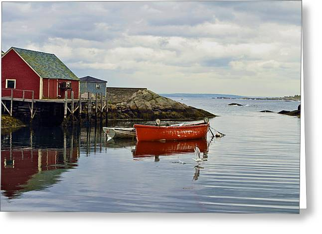 Peggy's Cove Greeting Card by John Babis