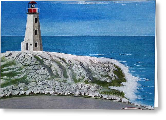 Peggy's Cove Greeting Card by John Lyes
