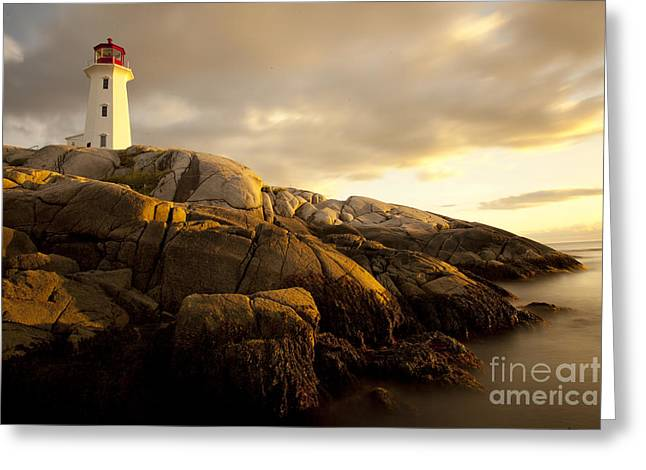 Peggys Cove Lighthouse Nova Scotia Greeting Card