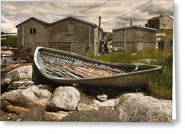Peggy's Cove Nova Scotia  Greeting Card by Cindy Rubin