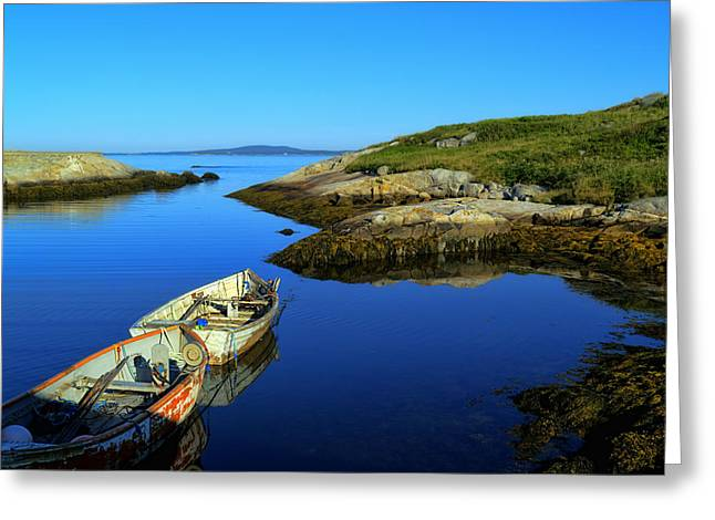 Peggys Cove Row Boats Greeting Card
