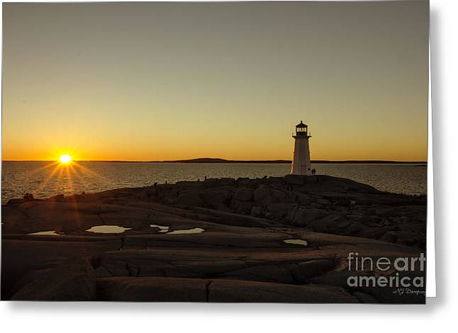Peggy's Sunset Greeting Card by Nancy Dempsey
