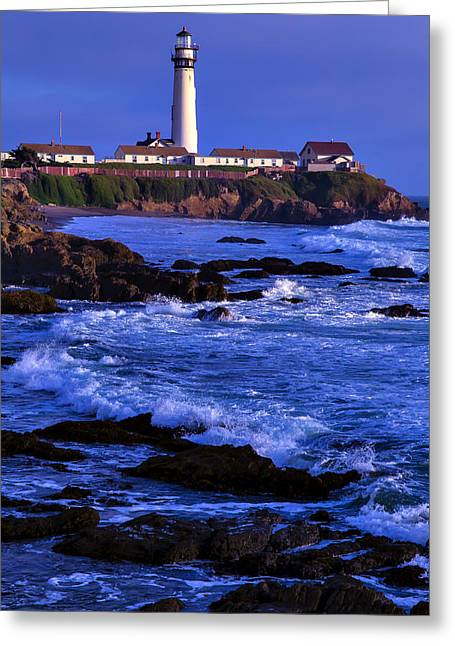 Pegion Point Light Station Greeting Card by Garry Gay