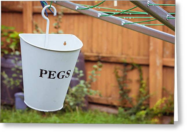 Pegs Holder Greeting Card