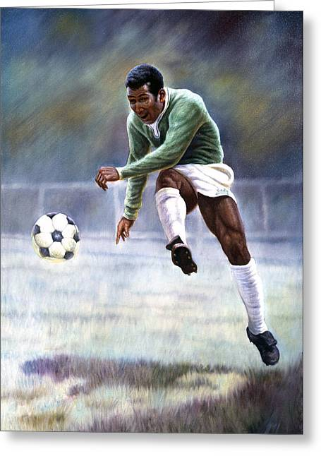 Pele Greeting Card by Gregory Perillo