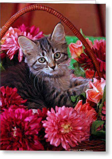 Pele In The Flowers Greeting Card by Kenny Francis