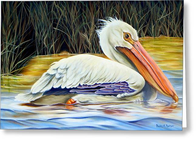 Pelican At East Pearl Greeting Card